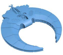 Doom Scythe Ship B003611 file stl free download 3D Model for CNC and 3d printer
