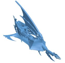 Drukhari space ship B003575 file stl free download 3D Model for CNC and 3d printer