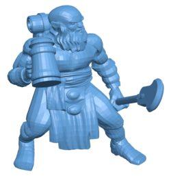 Drunk Dwarf B002891 file stl free download 3D Model for CNC and 3d printer