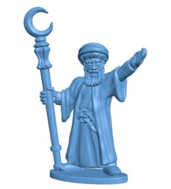 Dwarf Mage B003692 file stl free download 3D Model for CNC and 3d printer