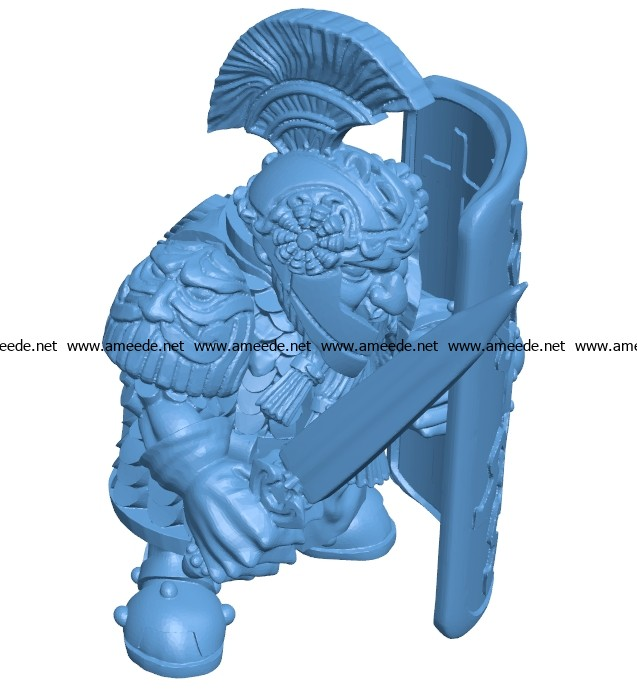 Dwarf gladiator B003684 file stl free download 3D Model for CNC and 3d printer