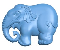 Elephant pendant B003099 file stl free download 3D Model for CNC and 3d printer