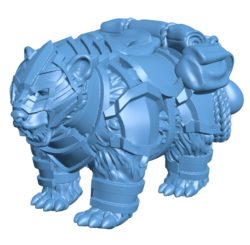 Equipped bear B002933 file stl free download 3D Model for CNC and 3d printer