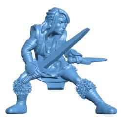 Female Human Barb B003040 file stl free download 3D Model for CNC and 3d printer