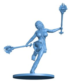 Female Mace Guardian Women B003035 file stl free download 3D Model for CNC and 3d printer