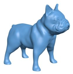 French bull dog B002870 file stl free download 3D Model for CNC and 3d printer