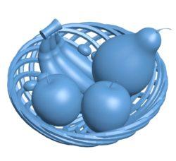 Fruit basket B003082 file stl free download 3D Model for CNC and 3d printer