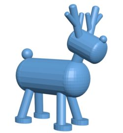 Funny Reindeer B003096 file stl free download 3D Model for CNC and 3d printer