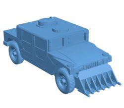 Gaslands Truck B003717 file stl free download 3D Model for CNC and 3d printer