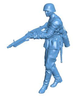 German mg gunner men B003168 file stl free download 3D Model for CNC and 3d printer
