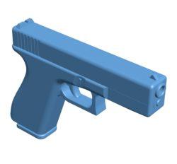 Glock pistol gun B002978 file stl free download 3D Model for CNC and 3d printer
