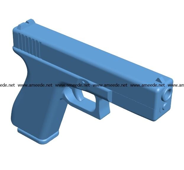 Glock Pistol Gun B002978 File Stl Free Download 3d Model For Cnc And 3d Printer Download Free Stl Files