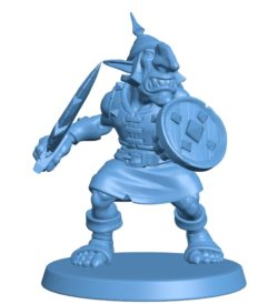 Goblin Shield Warrior B003067 file stl free download 3D Model for CNC and 3d printer