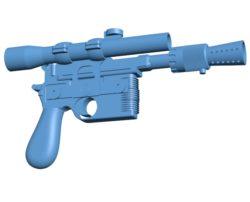 Gun DL-44 B003454 file stl free download 3D Model for CNC and 3d printer