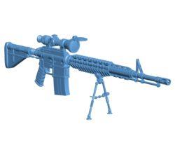 Gun M4A1 sniper B003259 file stl free download 3D Model for CNC and 3d printer