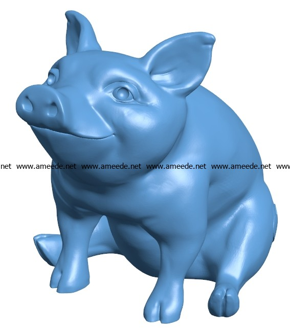 Happy piggy B003689 file stl free download 3D Model for CNC and 3d printer