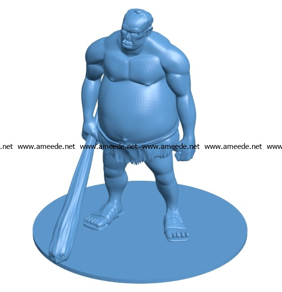 Hill Giant men B003701 file stl free download 3D Model for CNC and 3d printer