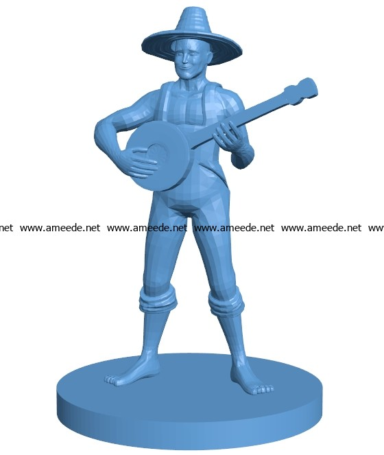 Hillbilly Human Male Bard B003632 file stl free download 3D Model for CNC and 3d printer