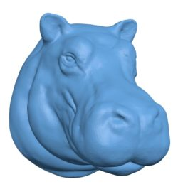 Hippo Head B002910 file stl free download 3D Model for CNC and 3d printer