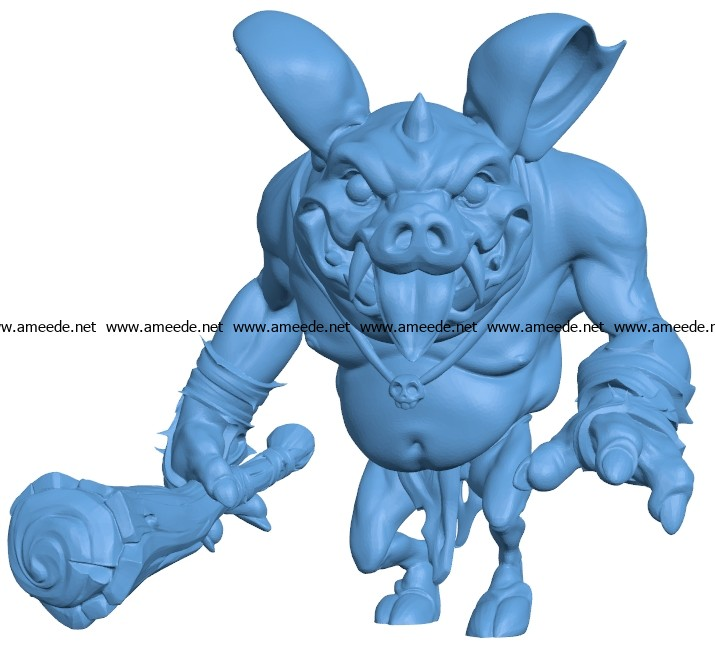 Hog Goblin B003696 file stl free download 3D Model for CNC and 3d printer