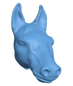 Horse Head B002911 file stl free download 3D Model for CNC and 3d printer