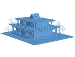 Japan house B003169 file stl free download 3D Model for CNC and 3d printer