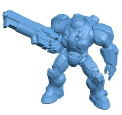 Jim Raynor B003455 file stl free download 3D Model for CNC and 3d printer