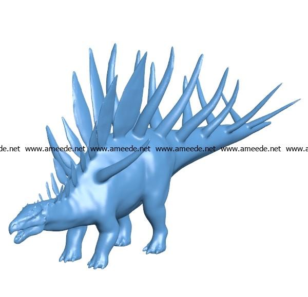 Kentrosaurus dinosaurs B003460 file stl free download 3D Model for CNC and 3d printer