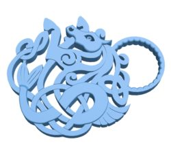 Keychain B002999 file stl free download 3D Model for CNC and 3d printer