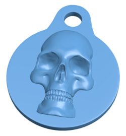 Keychain Skull B003364 file stl free download 3D Model for CNC and 3d printer
