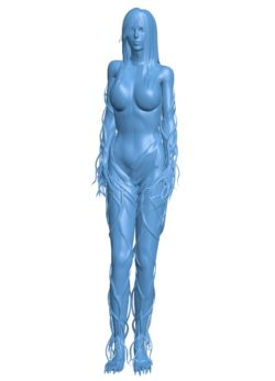 Lady of the forest girl B002865 file stl free download 3D Model for CNC and 3d printer