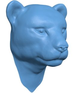 Leopard Head B002914 file stl free download 3D Model for CNC and 3d printer