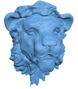 Lion Head B002913 file stl free download 3D Model for CNC and 3d printer