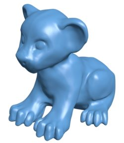 Lion cub B003406 file stl free download 3D Model for CNC and 3d printer