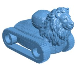 Lion tank panzer B003674 file stl free download 3D Model for CNC and 3d printer