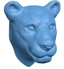 Lioness Head B002915 file stl free download 3D Model for CNC and 3d printer