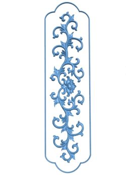 Long Pattern flowers A003225 wood carving file stl for Artcam and Aspire jdpaint free vector art 3d model download for CNC