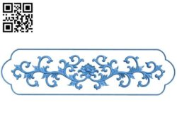 Long pattern flowers A002840 wood carving file stl for Artcam and Aspire jdpaint free vector art 3d model download for CNC