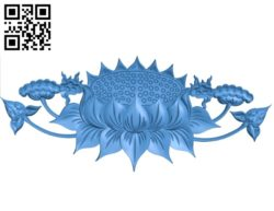 Lotus flowers A002777 wood carving file stl for Artcam and Aspire jdpaint free vector art 3d model download for CNC