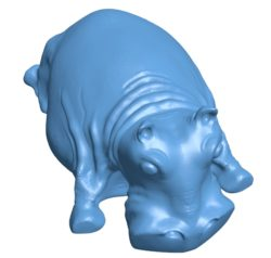 Lying hippo B003129 file stl free download 3D Model for CNC and 3d printer