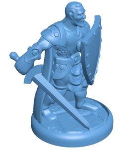 Man Antipaladin B003595 file stl free download 3D Model for CNC and 3d printer
