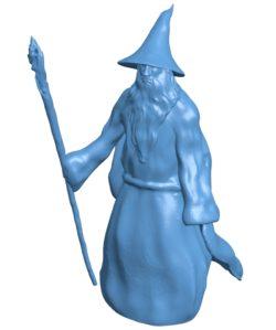 Man Gandalf B002949 file stl free download 3D Model for CNC and 3d printer