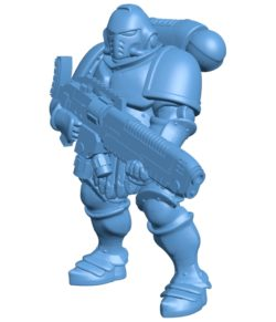 Man Hellblasters 003733 file stl free download 3D Model for CNC and 3d printer