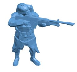 Man Infantry aiming B003608 file stl free download 3D Model for CNC and 3d printer