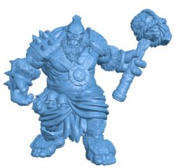 Man One Piece ogre B003731 file stl free download 3D Model for CNC and 3d printer