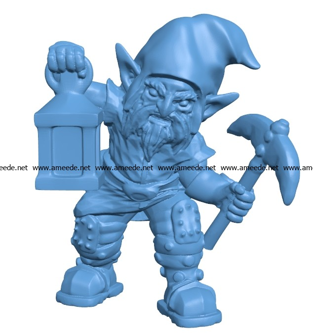 Man evil gnome B003695 file stl free download 3D Model for CNC and 3d printer