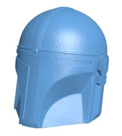 Mandalorian helmet B002935 file stl free download 3D Model for CNC and 3d printer