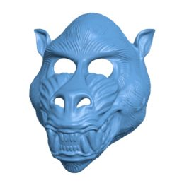 Mandrill Mask B003155 file stl free download 3D Model for CNC and 3d printer