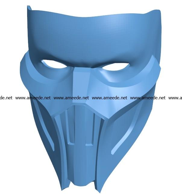 Mask Noob Saibot Helmet B003694 file stl free download 3D Model for CNC and 3d printer