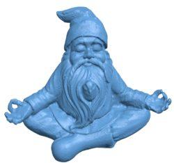 Meditating gnome B002973 file stl free download 3D Model for CNC and 3d printer
